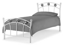 Footie White & Black Football Single Bed